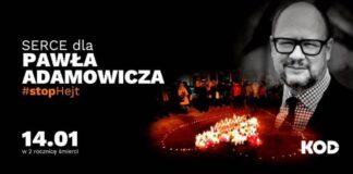 Serce ze zniczy zapłonie w drugą rocznicę śmierci Prezydenta Adamowicza