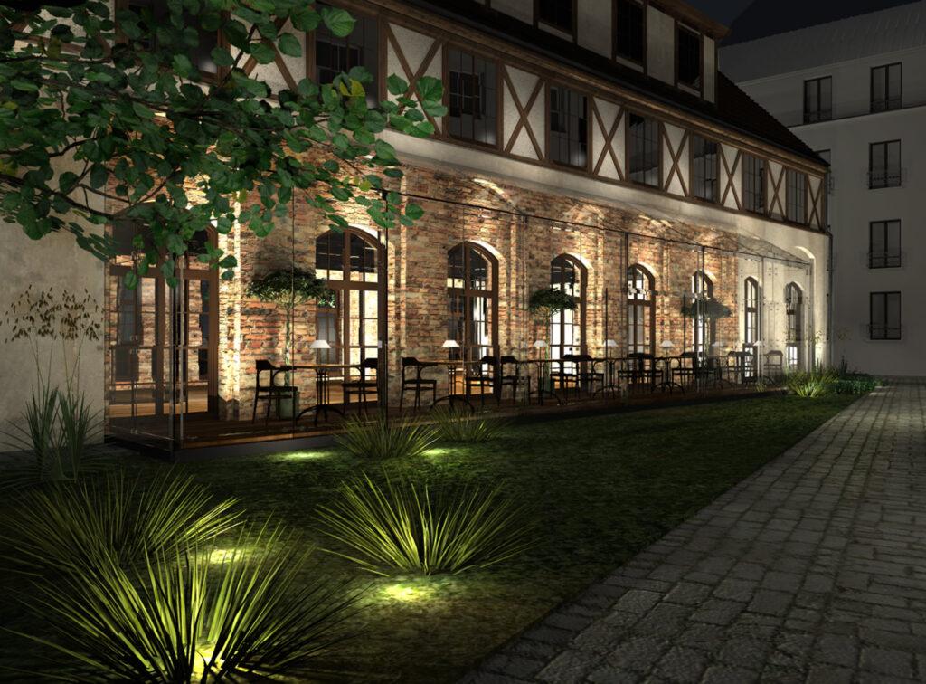 hotel orazrestauracja wdawnej stajni przy ulicy Rycerskiej