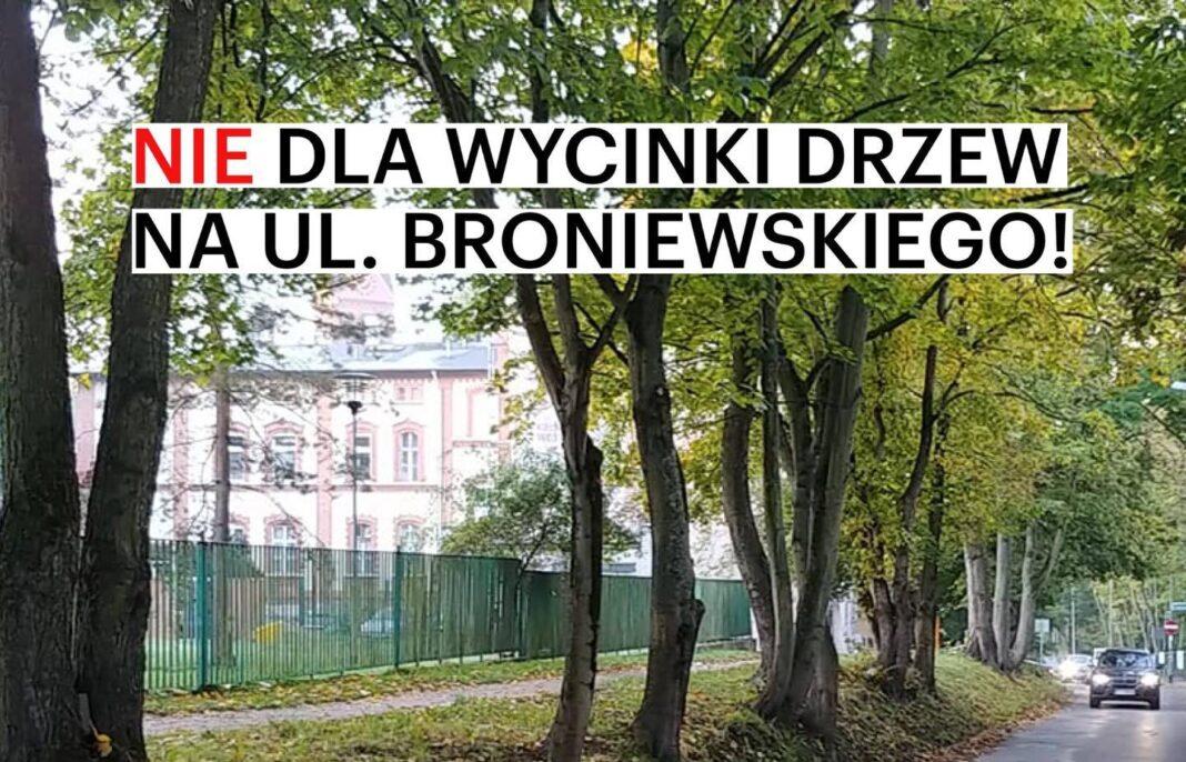 Petycja przeciwko wycince drzew na ulicy Broniewskiego