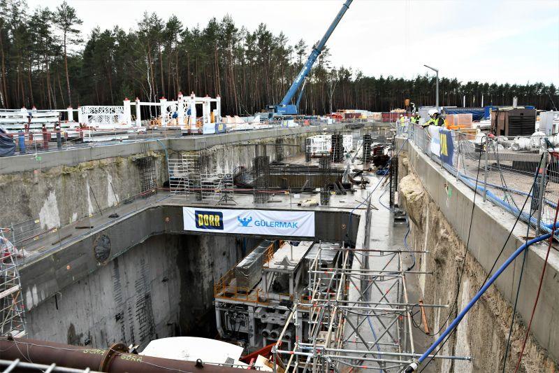 budowa tunelu wŚwinoujściu tarcza wkomorze startowej