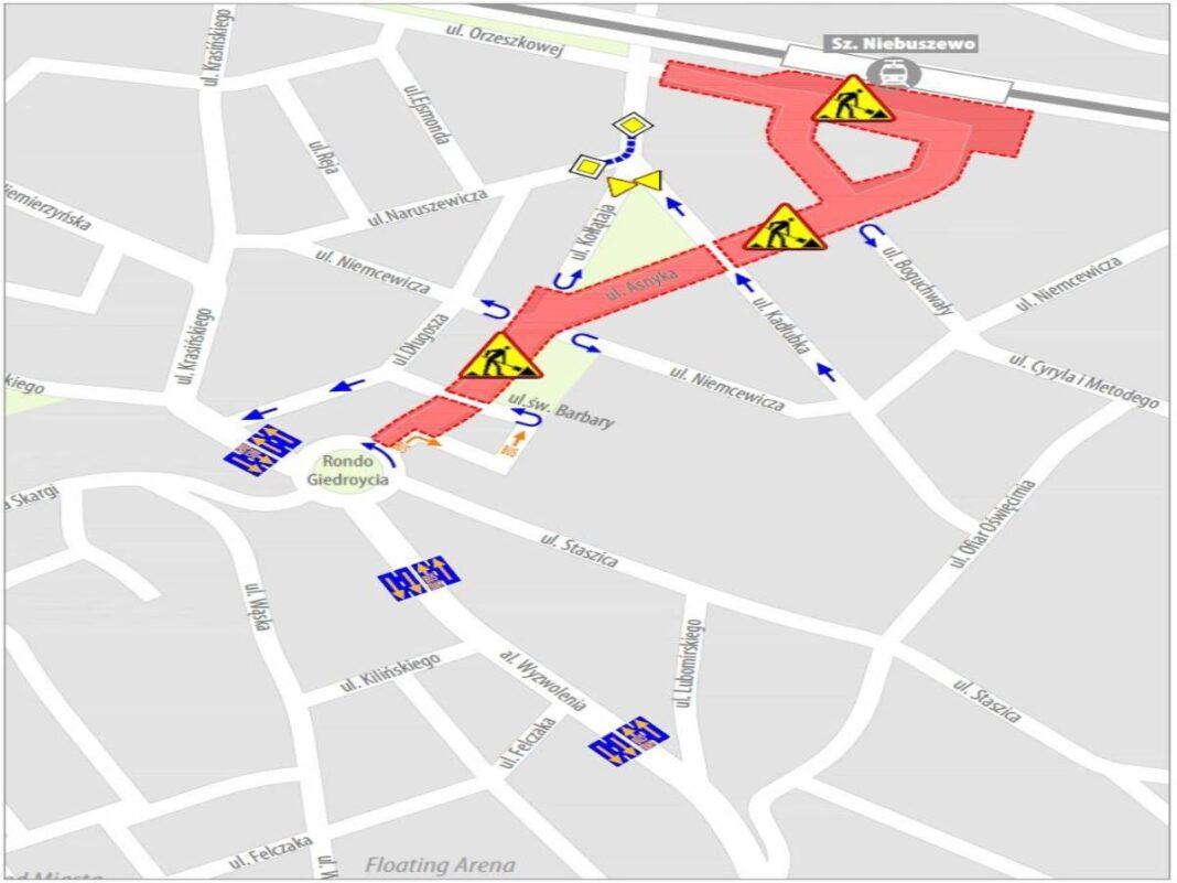 Kolejne ulice zamknięte w ramach Torowej Rewolucji na Niebuszewie