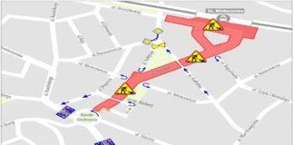 Kolejne ulice zamknięte wramach Torowej Rewolucji naNiebuszewie