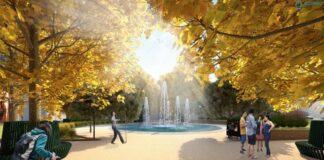 fontanna zamiast zbiornika przeciwpożarowego plac Batorego