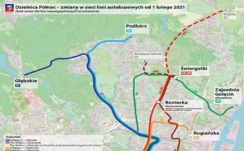 Od 1 lutego duże zmiany wkomunikacji miejskiej wSzczecinie