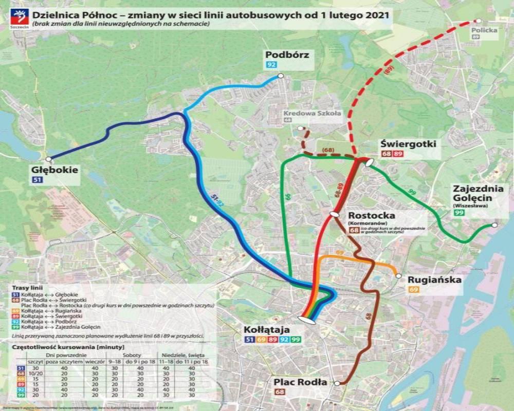 Od 1 lutego duże zmiany w komunikacji miejskiej w Szczecinie