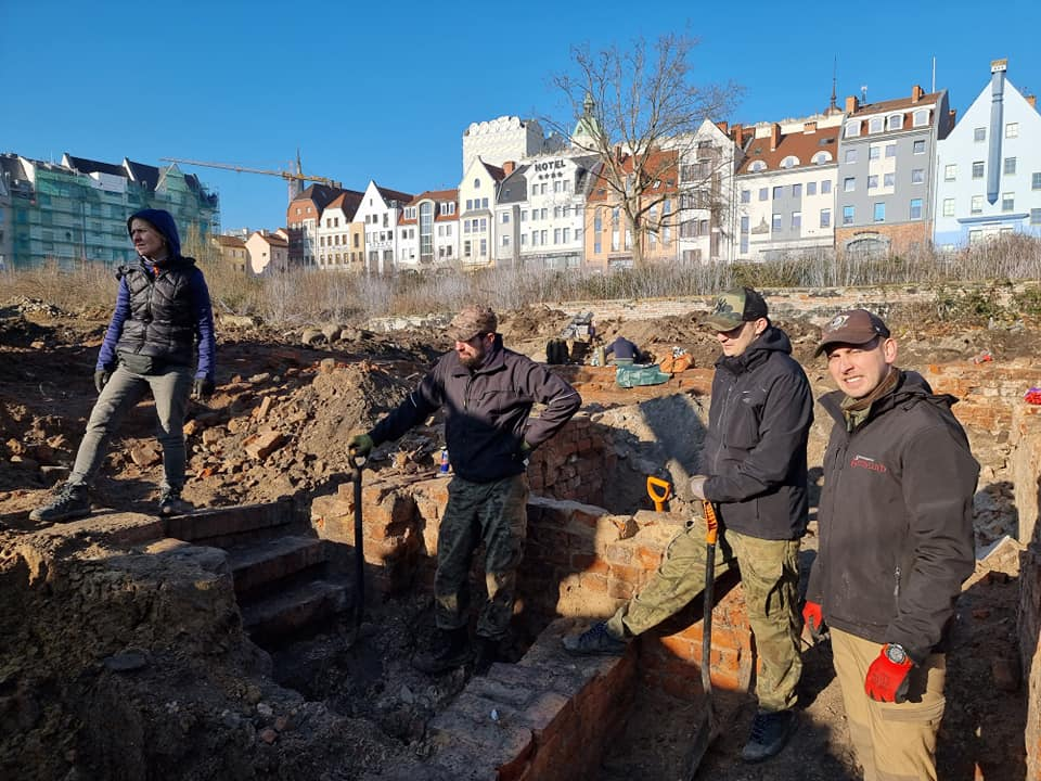 Prace archeologiczne na Podzamczu