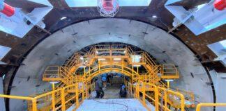 Pierwszy metr Wyspiarki maszyny drążącej tunel pod Świną
