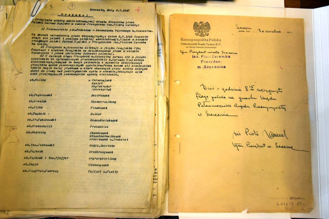 odkryto dokumenty zpoczątków polskiej administracji Szczecina