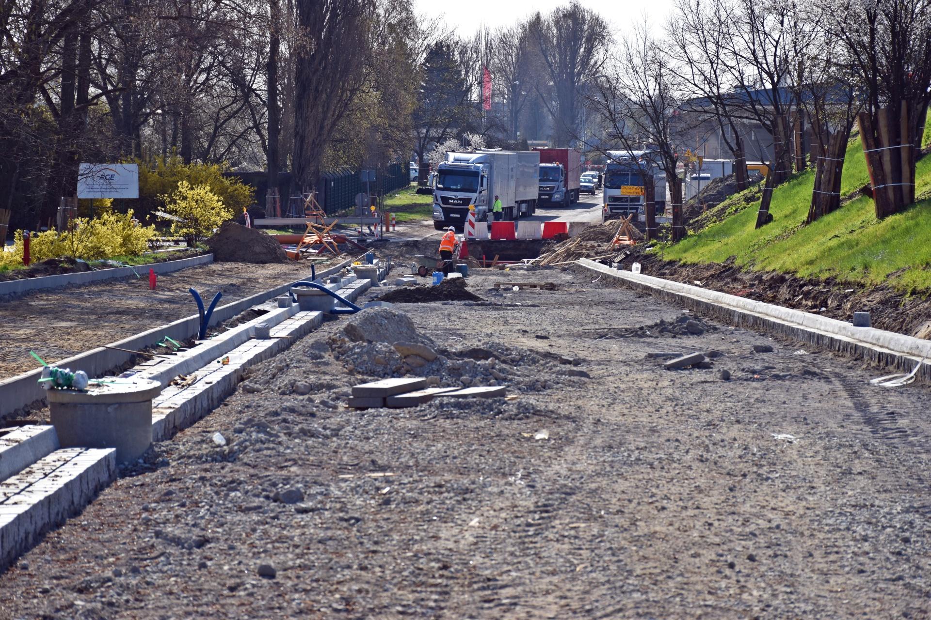 Zdjęcia zPrzebudowy Estakady