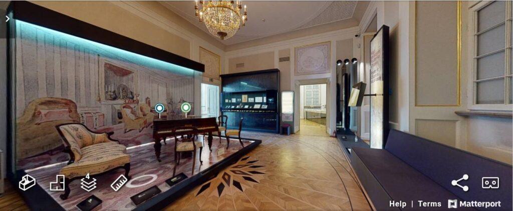 Muzeum Fryderyka Chopina wWarszawie w3D