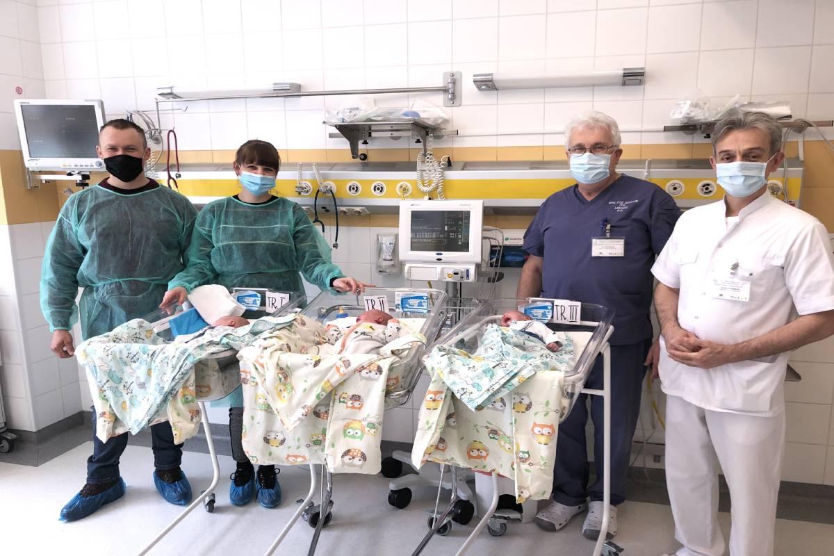 Pierwsze wtym roku trojaczki urodziły się wSzpitalu Zdroje