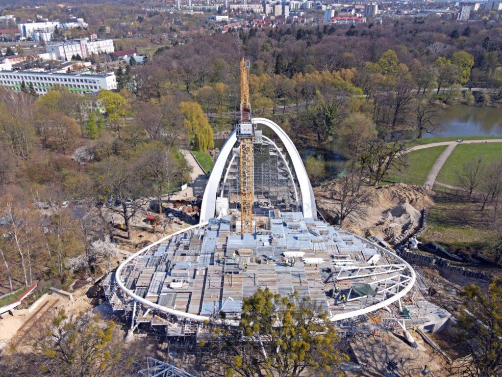 Fotorelacja zplacu budowy Teatru Letniego wSzczecinie