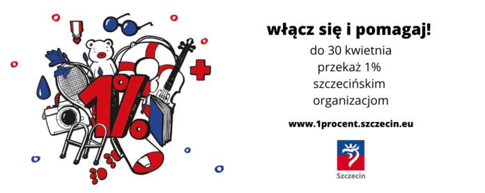 1% podatku dochodowego na szczecińskie organizacje