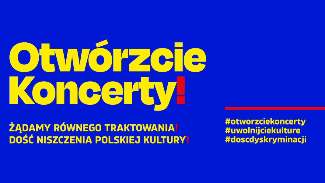 Otwórzcie koncerty protest organizatorów imprez artystycznych