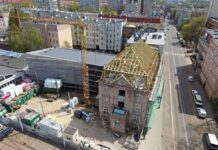 zdjęcia z placu budowy Muzeum Techniki i Komunikacji