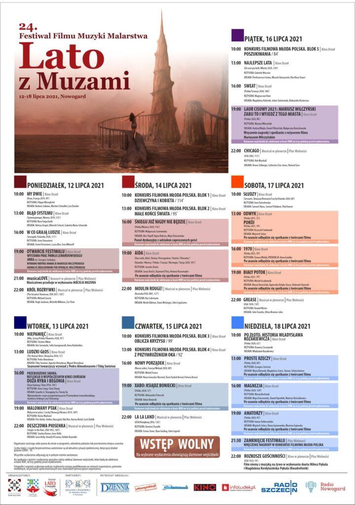 24 Festiwal Filmu Muzyki iMalarstwa Lato zMuzami wNowogardzie