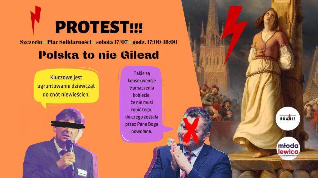 Protest wsprawie odwołania Przemysława Czarnka