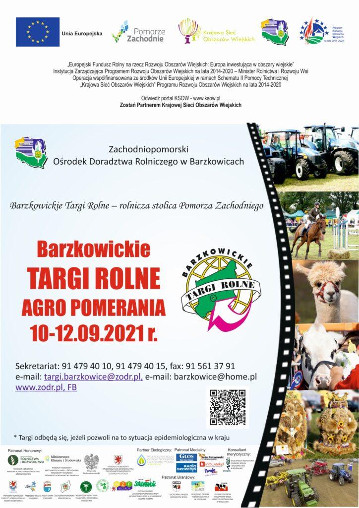 Barzkowickie Targi Rolne AGRO POMERANIA 2021