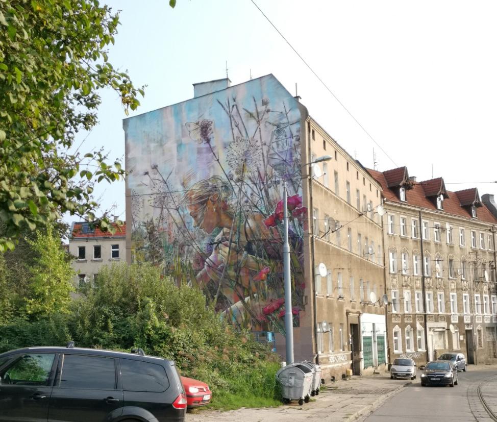 Street Art Szczecin 2021. Nowy mural na Dębogórskiej